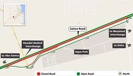 Temporary closure on part of Salwa Road