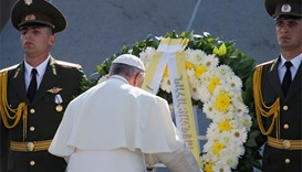 Pope visits Armenian genocide memorial