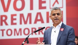 London Mayor Khan demands more autonomy for London after Brexit vote