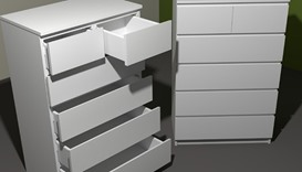 Malm model of chest of drawers
