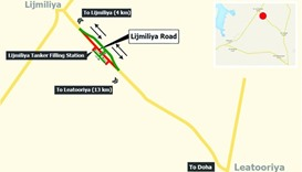 Traffic diversion for 6 months on Lijmiliya Road