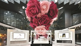 QDF and Dior's rose cascade exhibit to offer 'immersive feel'
