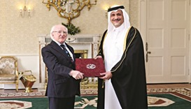 Envoy presents credentials