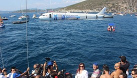 The sinking of the Airbus A300 off the popular resort of Kusadasi  is aimed at promoting artificial