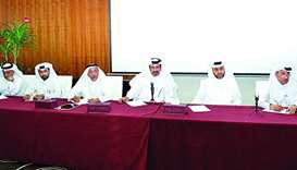 A meeting held at Qatar Chamber