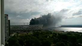Russian World Cup construction site fire in Volgograd