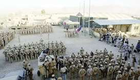 Bagram base north of Kabul