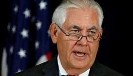 US Secretary of State Rex Tillerson speaks during a press conference at the State Department in Wash