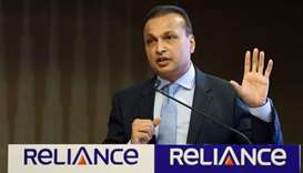 Indian industrialist and Reliance ADAG CEO Anil Ambani speaks during a news conference