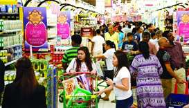 Shoppers at LuLu Hypermarket on D Ring Road in Doha. PICTURE: Jayaram