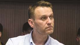 Navalny: currently serving a 25-day sentence in police cells as the organiser of an unauthorised pro