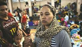 Rasmia Abdullah, 24, speaks during an interview at an evacuation centre outside Marawi in Balo-in.