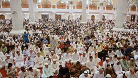 Eid prayers at the Abdul Wahab mosque
