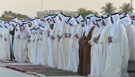 Emir, Father Emir perform Eid prayer