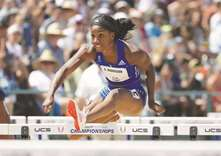 Harrison romps as Kendricks soars with season-best jump
