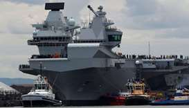 The British aircraft carrier HMS Queen Elizabeth