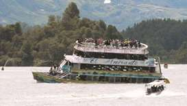 Search on for tourists as boat sinks in Colombia