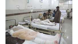 Burn victims overwhelm hospitals after tanker fire