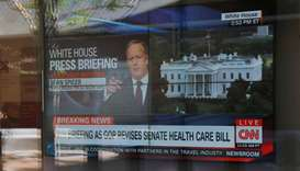 CNN's broadcast of White House Press Secretary Spicer's briefing