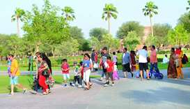 Residents celebrate Eid outdoors with great fanfare