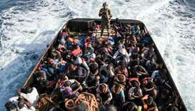 The rescue of 147 illegal immigrants attempting to reach Europe