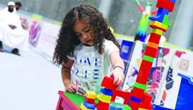 Lego sets keep young children busy