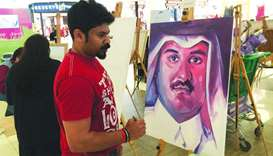Artists get creative to express solidarity for Qatar and Emir