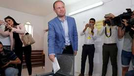 Prime Minister and Labour Party leader Joseph Muscat casts his vote