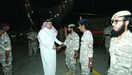 Defence Minister receives Qatari troops from Najran