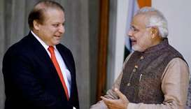 Pakistan Prime Minister Nawaz Sharif's with Indian Premier Narendra Modi