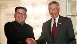 N Korea's Kim in Singapore on cusp of making history with Trump summit