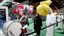 Inauguration of the HIA airport football fan zone