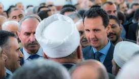 Assad performs Eid prayer in rare appearance outside Damascus