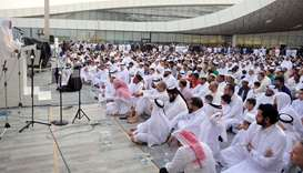 Eid prayer- Education City Mosque