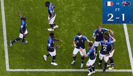 Technology helps France beat Australia 2-1 at World Cup