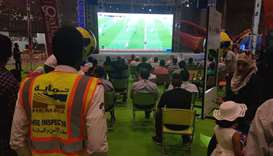 The fan zone screens live 2018 FIFA World Cup Russia matches.