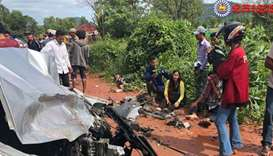 Cambodia's political prince hurt in car crash that kills wife