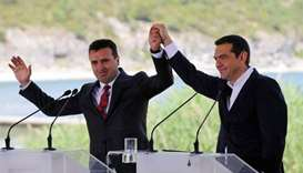 Greece, Macedonia sign pact to end dispute over name
