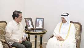 HE the Prime Minister and Minister of Interior Sheikh Abdullah bin Nasser bin Khalifa al-Thani on me