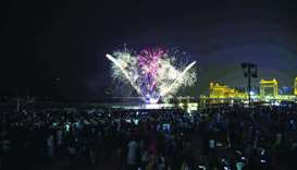 A moment from the fireworks held by Katara.