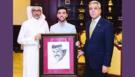 HE the Minister of Culture and Sports Salah bin Ghanim bin Nasser al-Ali met on Sunday evening the I