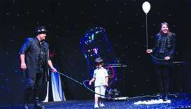 A young boy joins the bubble show. PICTURE: Shemeer Rasheed.