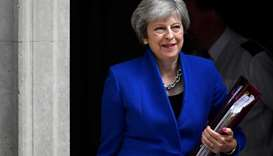 Britain's Prime Minister Theresa May leaves 10 Downing Street in London, Britain