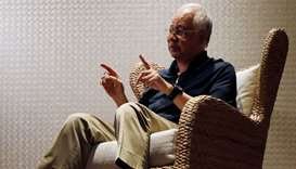 Najib Razak speaks to Reuters during an interview in Langkawi, Malaysia