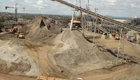 A copper mine in Solwezi, Zambia