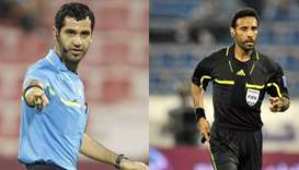 Qatari referees Abdul Rahman Al Jassim and Salem Al Marri