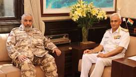 Qatar, India discuss military relations