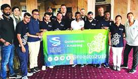 Xavi and other members of the Generation Amazing programme in Russia