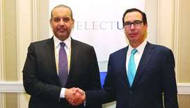 HE the Minister of Economy and Commerce meets US Treasury Secretary Steven Mnuchin in Washington DC