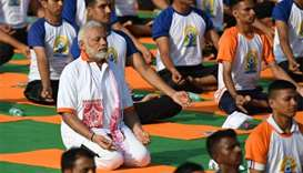 International Yoga Day stretches around the world